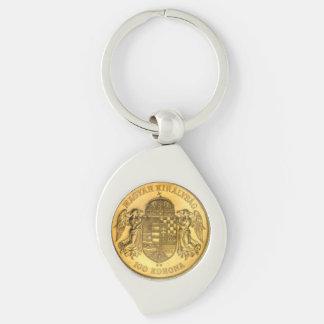 Hungarian Korona Coin Design Keychain