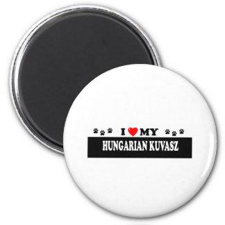 HUNGARIAN KUVASZ 2 INCH ROUND MAGNET