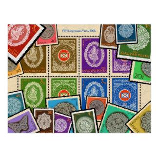 Hungarian Lace Stamp Series - 1960 Postcard
