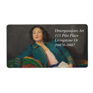 Hungarian Lady with a Book Label