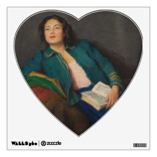 Hungarian Lady with Book Wall Decal