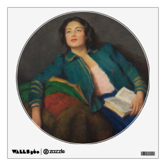 Hungarian Lady with Book Wall Sticker