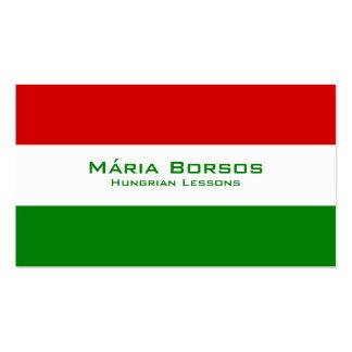 Hungarian Lessons / Hungarian Teacher Business Card