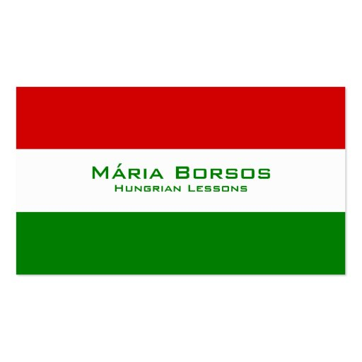 Hungarian Lessons / Hungarian Teacher Business Cards