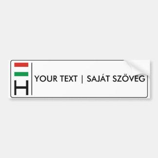 Hungarian license plate | magyar rendszámtábla bumper sticker