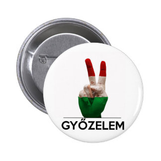 Hungarian Magyar victory hand v-shape peace finger Button