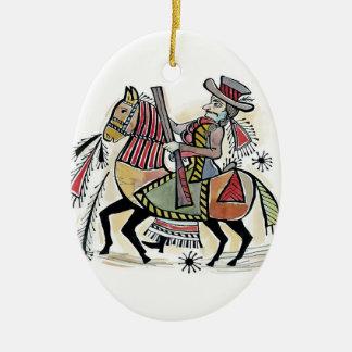 hungarian outlaw ceramic ornament