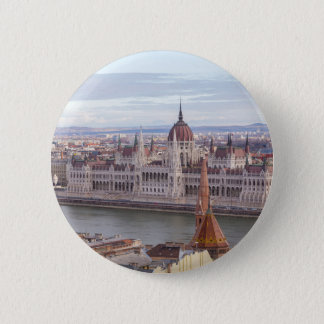 Hungarian Parliament Budapest by day Pinback Button