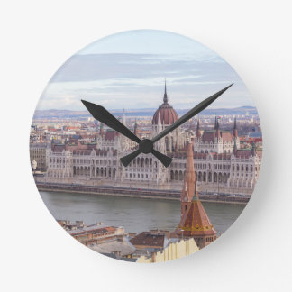 Hungarian Parliament Budapest by day Round Clock