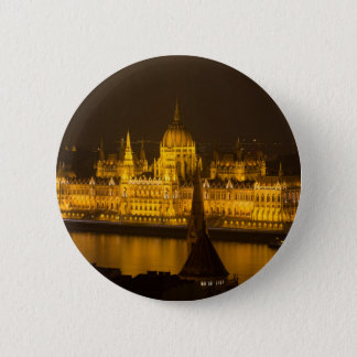 Hungarian Parliament Budapest by night Button