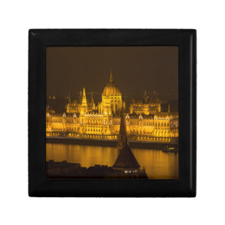 Hungarian Parliament Budapest by night Keepsake Box
