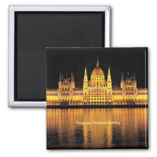 Hungarian Parliament Building 2 Inch Square Magnet