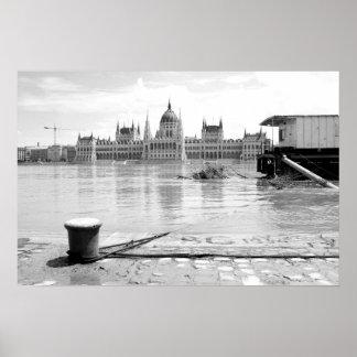 Hungarian Parliament Building across River Danube Poster