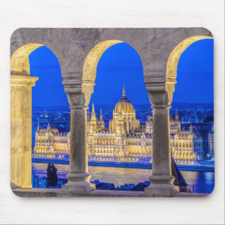 Hungarian Parliament Building at Dusk Mouse Pad