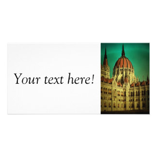 Hungarian parliament building painting photo cards