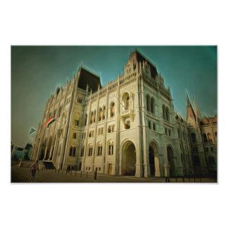 Hungarian parliament building painting art photo