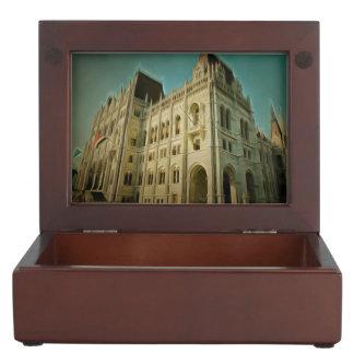 Hungarian parliament building painting keepsake boxes