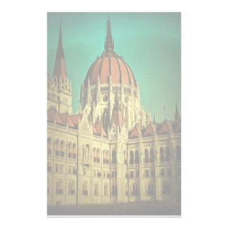 Hungarian parliament building painting custom stationery