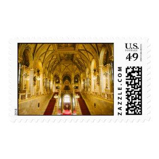 Hungarian Parliament interior Stamp