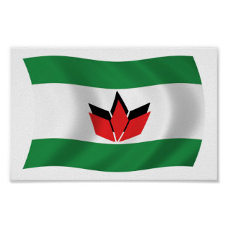 Hungarian People Flag Poster Print
