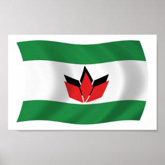 Hungarian People Flag Poster Print