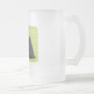 Hungarian Puli 9R71D-101 Frosted Glass Beer Mug