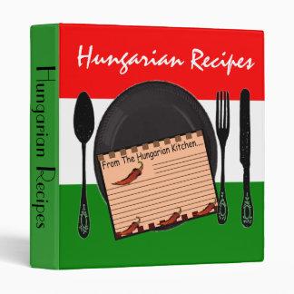 Hungarian Recipe Binder--Hungarian Flag Design Vinyl Binder