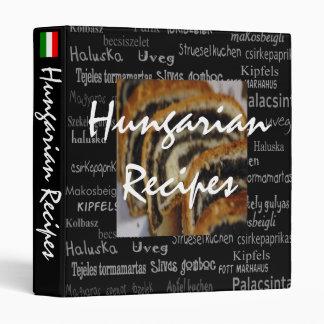 Hungarian Recipe Binder--Impressive Black 3 Ring Binder