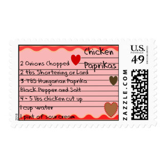 Hungarian Recipe Postage Stamps