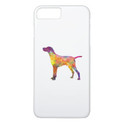 Hungarian Shorthaired Pointer in watercolor iPhone 8 Plus/7 Plus Case