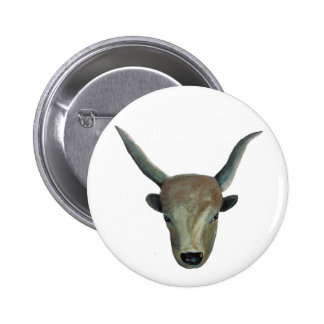 Hungarian steppe cattle/Hungarian Grey Cattle Pinback Button