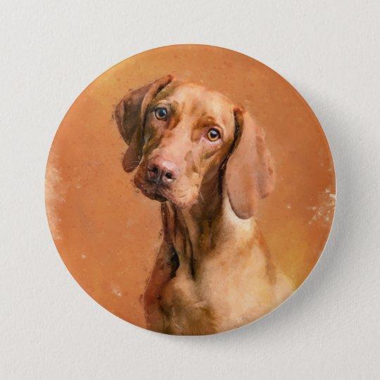Hungarian Vizsla Dog Artwork Button