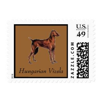 Hungarian Vizsla Dog Postage Stamp for letters