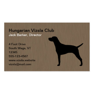 Hungarian Vizsla Dog Silhouette Business Card