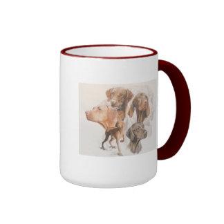 Hungarian Vizsla Ringer Coffee Mug