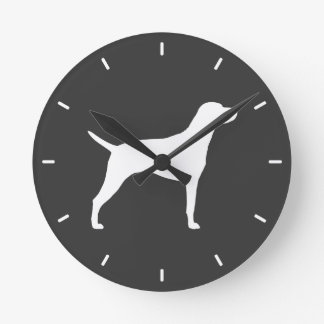 Hungarian Vizsla Silhouette Clocks