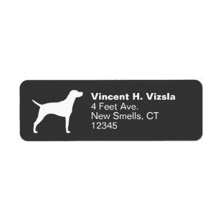Hungarian Vizsla Silhouette Label