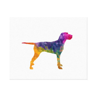 Hungarian Wirehaired Vizsla in watercolor Canvas Print