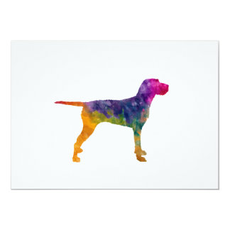 Hungarian Wirehaired Vizsla in watercolor Card