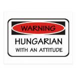 Húngaro con una actitud tarjeta postal