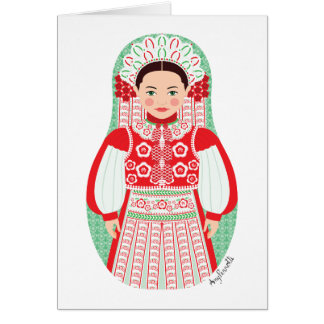 Húngaro de la tarjeta de Kalotaszeg Matryoshka