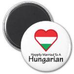 Húngaro feliz casado iman de frigorífico