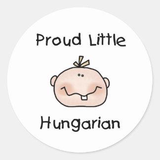 Húngaro orgulloso del bebé pegatina redonda