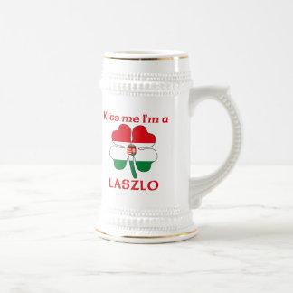 Húngaros personalizada me besan que soy Laszlo Jarra De Cerveza