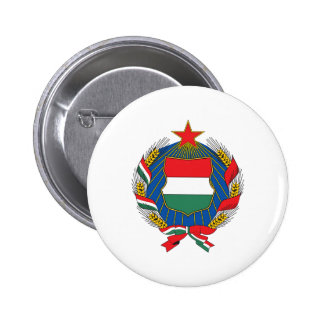 Hungary 1957 Coat Of Arms Pinback Button