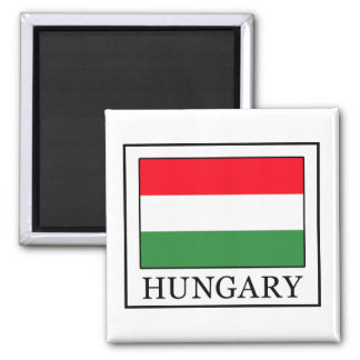 Hungary 2 Inch Square Magnet
