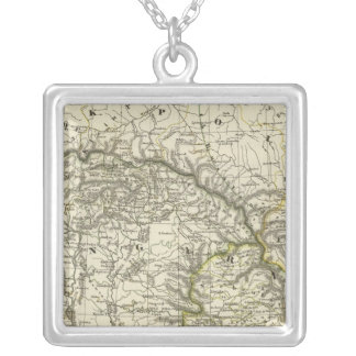 Hungary and its by land from the government silver plated necklace