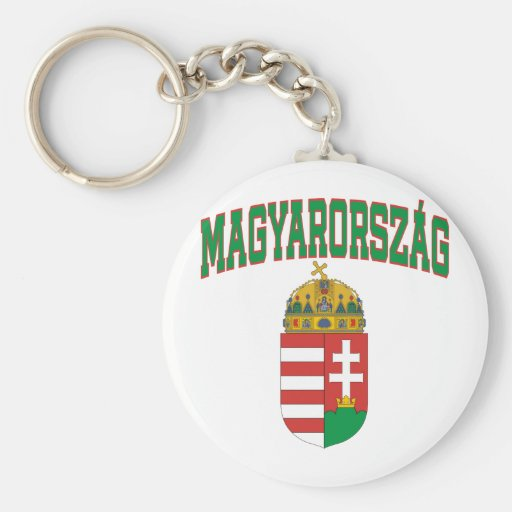 Hungary Basic Round Button Keychain