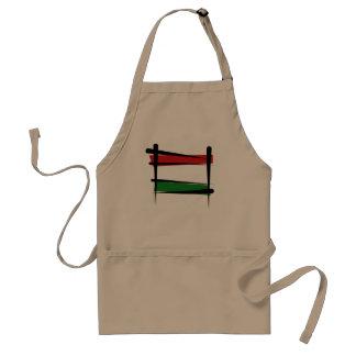 Hungary Brush Flag Adult Apron