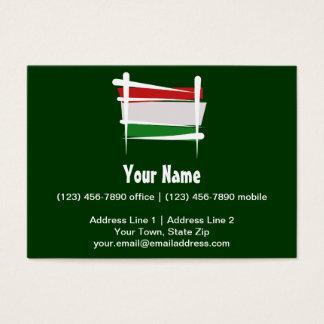 Hungary Brush Flag Business Card